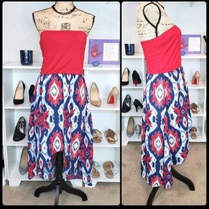 3/$15 Charming Charlie High Low Strapless Dress